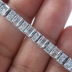 Jewelry - Fine Multi Shape Diamond Tennis Bracelet White Gol